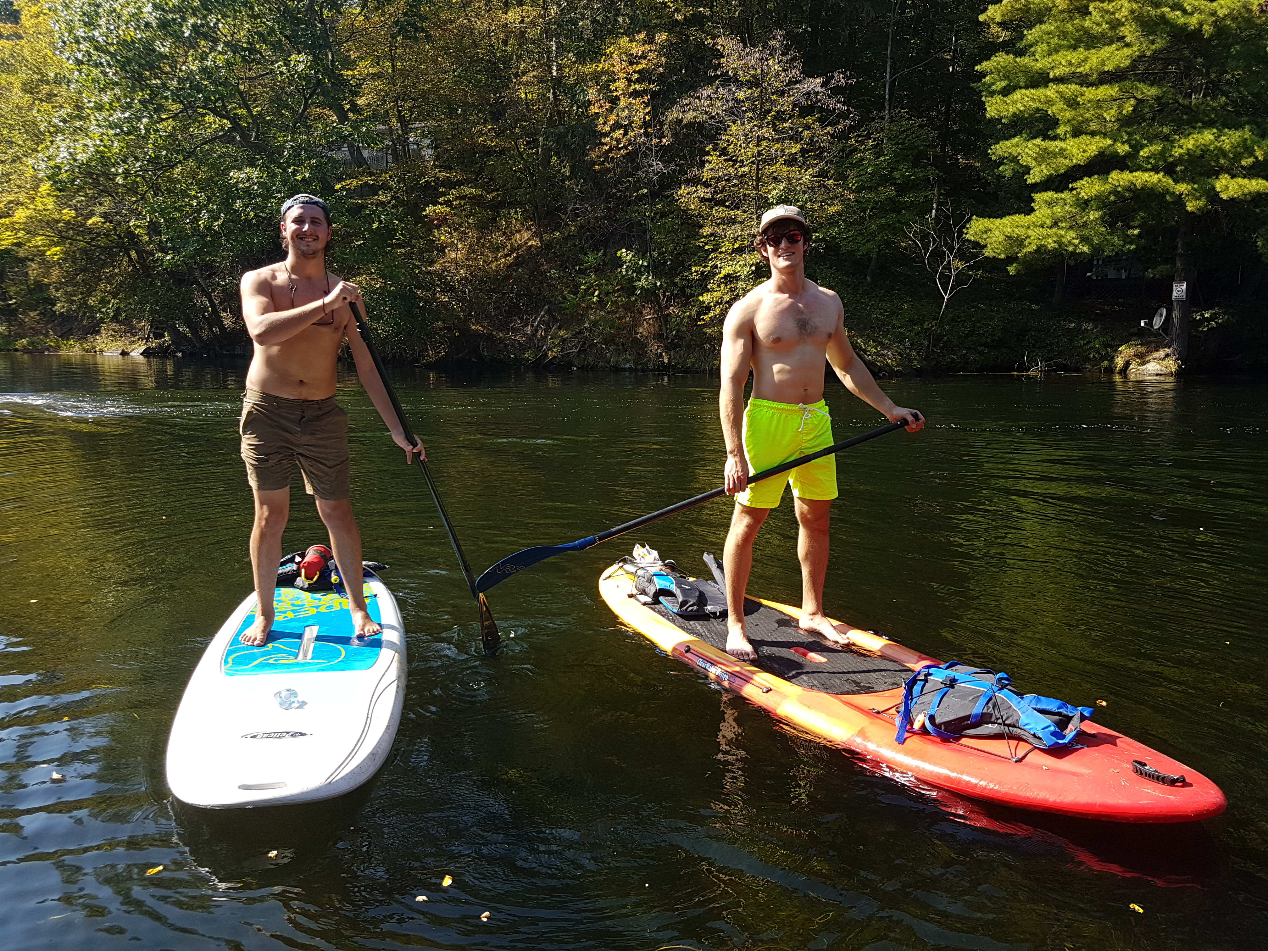 Image of two people on a paddleboard.
